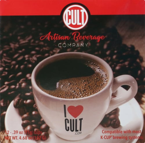 CULT Organic Honduras Comucap Single Serve Coffee Cups Perspective: left