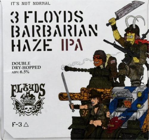 Three Floyds Brewing Barbarian Haze IPA Perspective: left