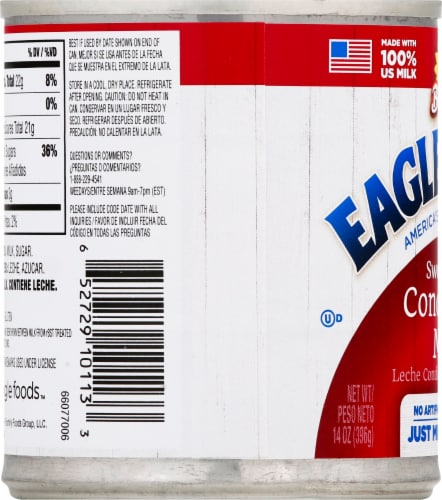 Eagle Brand Sweetened Condensed Milk Perspective: left