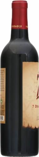 Michael David The Seven Deadly Zins Zinfandel Red Wine Perspective: left