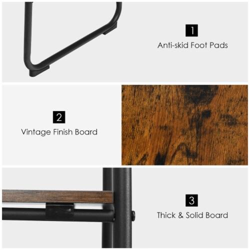Costway Metal Garment Rack Free Standing Closet Organizer w/5 Shelves Hanging Bar Black Perspective: left