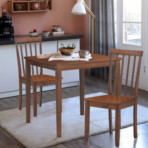 Costway Set of 4 Dining Chair Kitchen Spindle Back Side Chair with Solid Wooden Legs Perspective: left