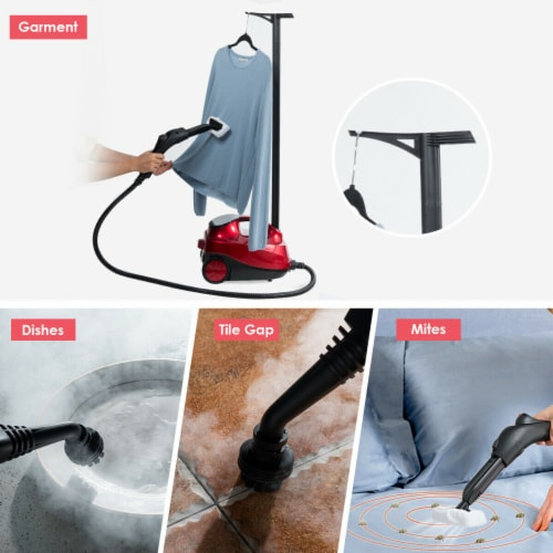 Costway 2000W Heavy Duty Steam Cleaner Mop Multi-Purpose W/19 Accessories 4.0 Bar 1.5L Perspective: left