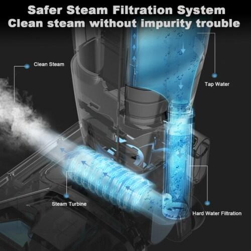 Costway Lightweight Upright Vacuum Cleaner Steam Mop Wet-Dry Vacuum Perspective: left