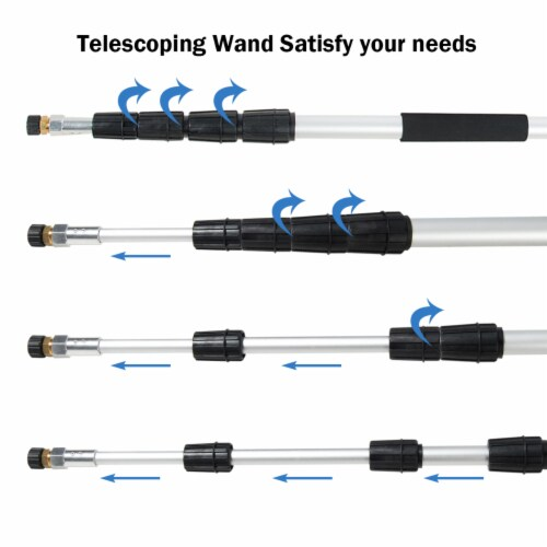 Costway 4000PSI 18Ft Commercial Grade Telescoping Pressure Washer Spray Wand 5 Nozzle Perspective: left