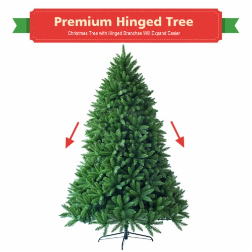 Costway 7.5ft Artificial Christmas Fir Tree 1968 Branch Tips Perspective: left