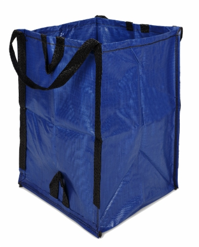Halsted DuraSack Reusable Heavy Duty Home and Yard Bag - Blue Perspective: left