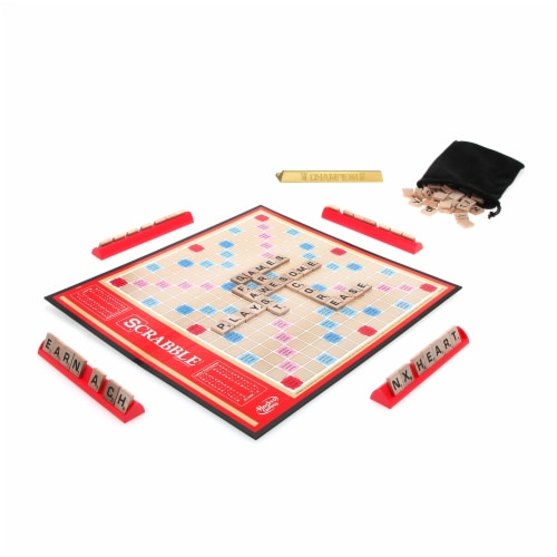 Hasbro Scrabble Classic Crossword Game Perspective: left