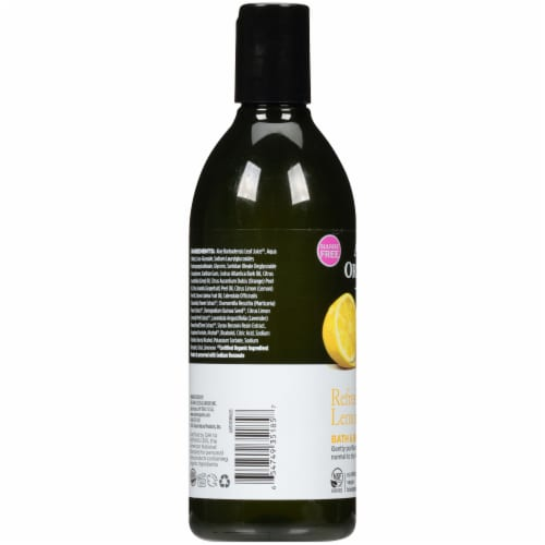 Avalon Organics Refreshing Lemon Bath & Shower Gel Perspective: left