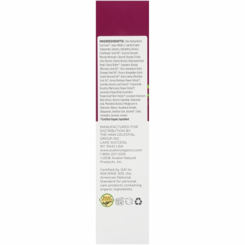 Avalon Organics Wrinkle Therapy With CoQ10 & Rosehip Perspective: left