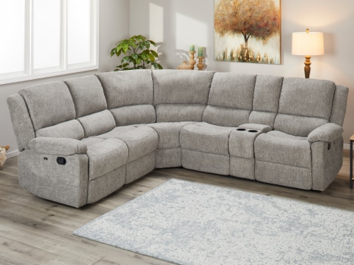 Living Style Nealy Sofa Sectional Couch - Gray Perspective: left