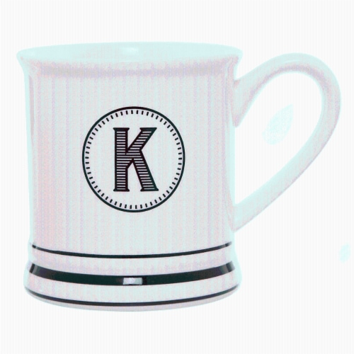 PMI Worldwide Barber Shop Monogrammed Mug - White/Black Perspective: left