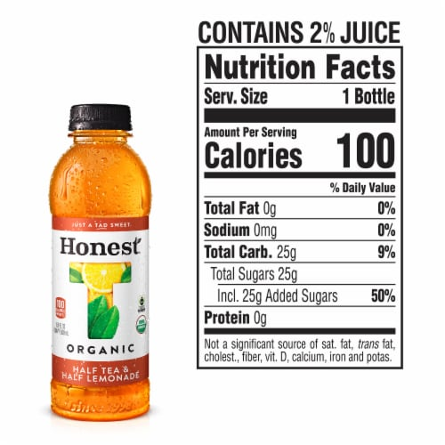 Honest Organic Half Tea & Half Lemonade Perspective: left