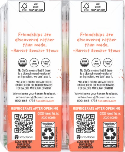 Honest Kids Organic Strawberry Peachy Keen Juice Perspective: left