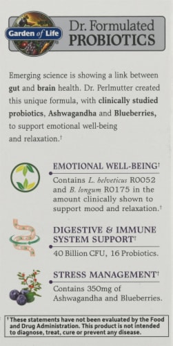 Garden of Life Dr. Formulated Probiotics Mood Daily Care Capsules Perspective: left