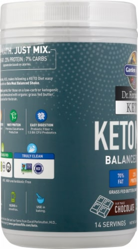 Garden of Life Dr Formulated Chocolate Keto Meal Perspective: left