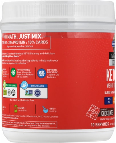 Garden of Life Dr Formulated Chocolate Keto Fit Perspective: left