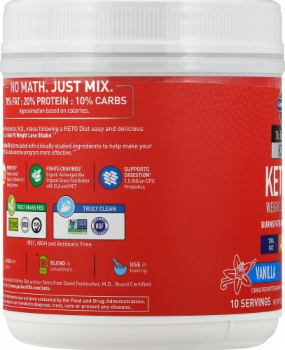 Garden of Life Dr Formulated Vanilla Keto Fit Perspective: left