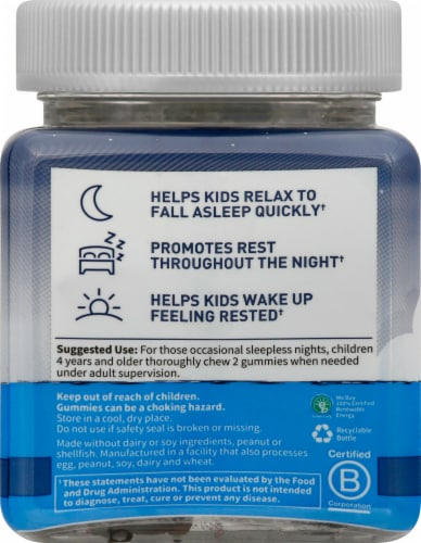 Garden of Life Dr Formulated Kids Sleep Gummies Perspective: left