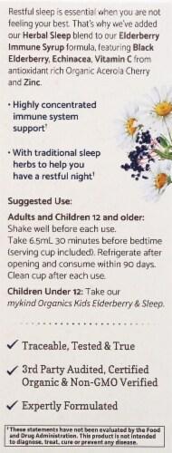 Garden of Life Mykind Organics Elderberry & Sleep Immune Syrup Perspective: left