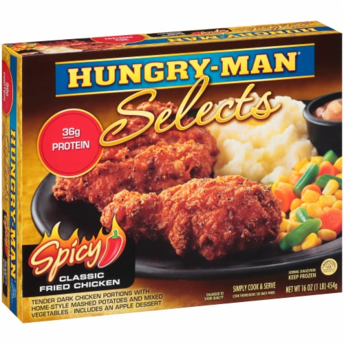 Hungry-Man Selects Spicy Classic Fried Chicken Perspective: left