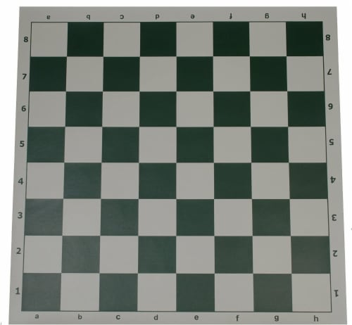 WE Games Complete Tournament Chess Set, Plastic Pieces, Green Board, Bag Perspective: left