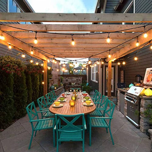 Costway 36FT LED Outdoor Waterproof Commercial Grade Patio Globe String Lights Bulbs Perspective: left