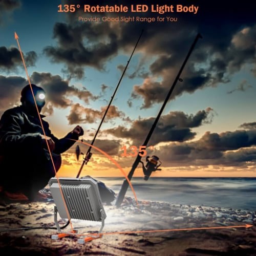 Costway 53W 6000LM LED Work Light for Camping Fishing Perspective: left