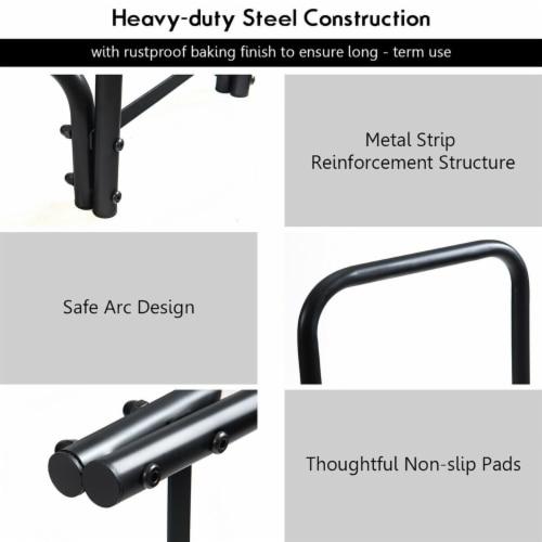 Costway 4 Feet Outdoor Steel Firewood Log Rack Wood Storage Holder for Fireplace Black Perspective: left
