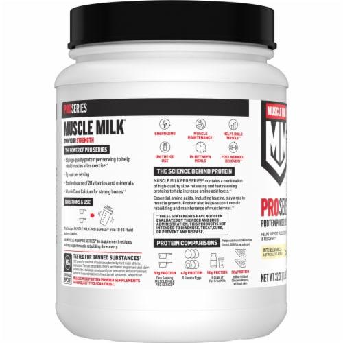 Muscle Milk Pro Series 50 Vanilla Protein Powder Perspective: left