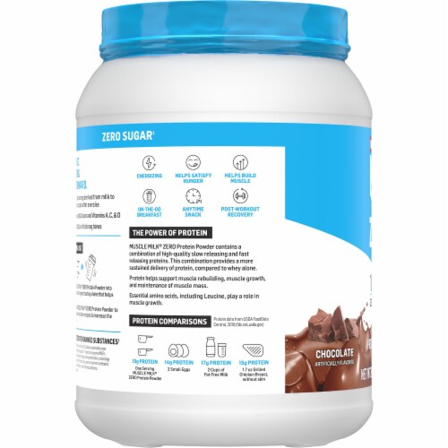 Muscle Milk 100 Calorie Chocolate Protein Powder Perspective: left