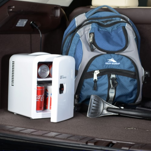 Uber Appliance Mini Fridge 6-can portable refrigerator|cooler/warmer|Bedroom/dorm/RV Perspective: left