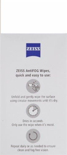 ZEISS Anti-Fog Wipes Perspective: left