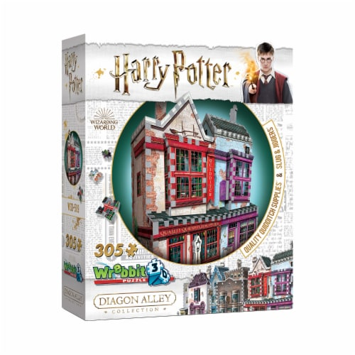 Wrebbit Harry Potter Diagon Alley Collection Quality Quidditch Supplies 3D Puzzle Perspective: left