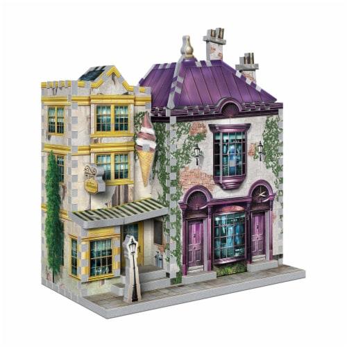 Harry Potter Diagon Alley Collection Madam Malkin's & Florean Fortescue's Ice Cream 3D Puzzle Perspective: left