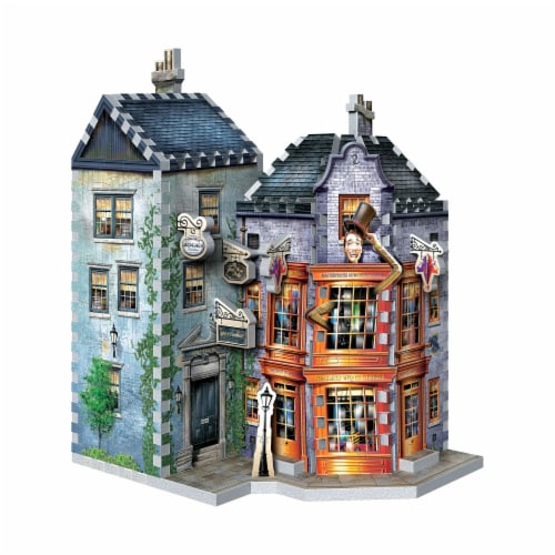 Wrebbit Diagon Alley Collection Weasleys Wizard Wheezes & Daily Prophet 3D Puzzle Perspective: left