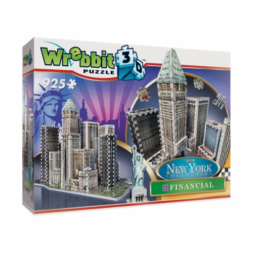 Wrebbit New York Collection Financial 3D Puzzle Perspective: left
