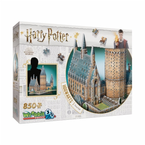 Wrebbit Harry Potter Collection Hogwarts Great Hall 3D Puzzle Perspective: left