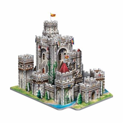 Wrebbit King Arthur Camelot 3D Puzzle Perspective: left