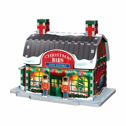Wrebbit Christmas Village 3D Puzzle Perspective: left