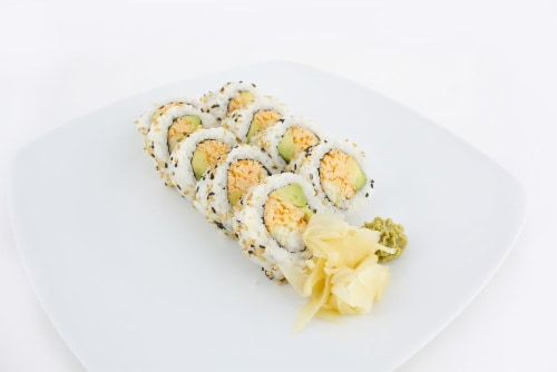 Hissho Blazing California Roll (NOT AVAILABLE BEFORE 11:00 AM DAILY) Perspective: left