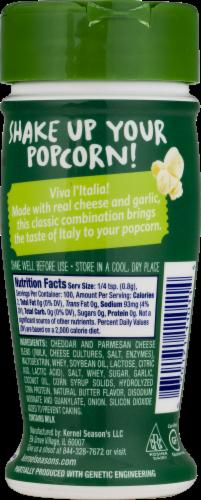 Kernel Season's Garlic Parmesan Popcorn Seasoning Perspective: left