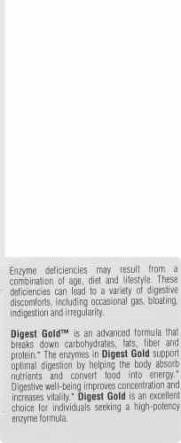 Enzymedica Digest Gold Dietary Supplement Capsules Perspective: left