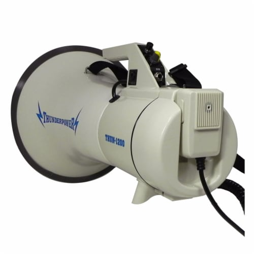ThunderPower 45W 2000 Yard Sound Range PA Bullhorn Megaphone Speaker with Siren Perspective: left