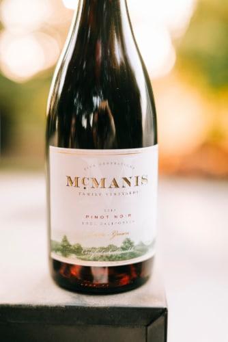 McManis Pinot Noir Red Wine Perspective: left