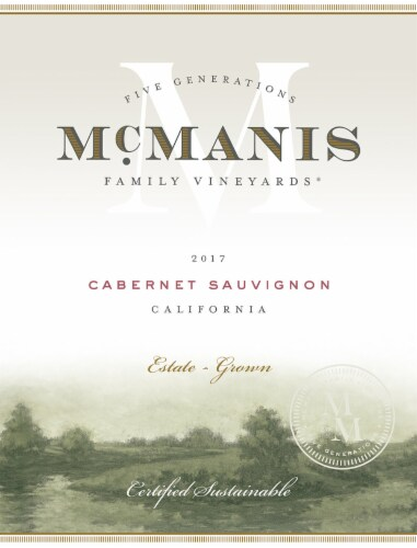 McManis Family Vineyards Cabernet Sauvignon Red Wine Perspective: left