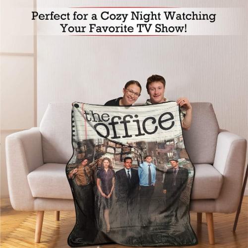 The Office Fleece Softest Throw Blanket Perspective: left
