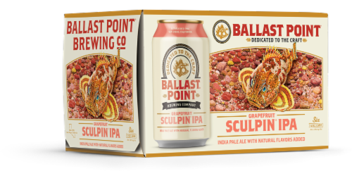 Ballast Point Grapefruit Sculpin IPA Perspective: left