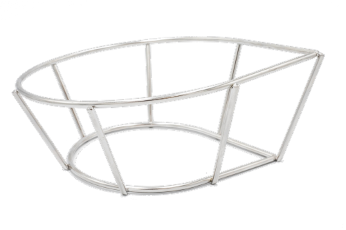 Topsy Turkey/Choice Chicken Roaster Rack Roasting and Grilling Perspective: left
