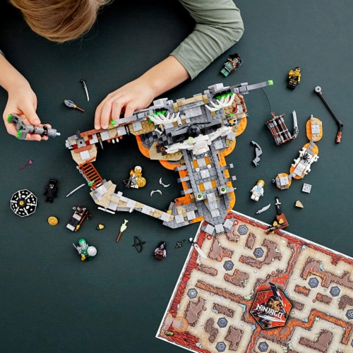 LEGO 71722 NINJAGO Skull Sorcerers Dungeons Playset and Board Game (1171 Pieces) Perspective: left